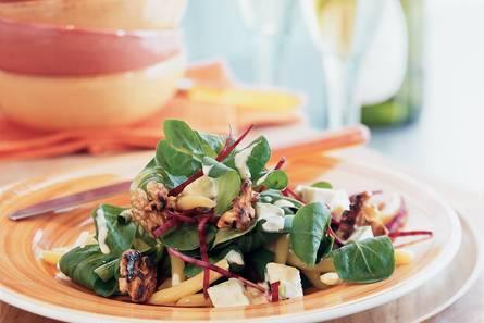 Salade met avocado en limabonen