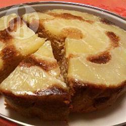 Omgekeerde cake met verse ananas recept