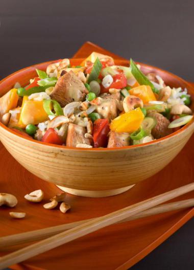 Recept 'aziatische kipsalade'