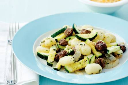Gnocchi met courgette en gehaktballetjes