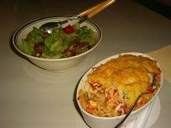 Macaroni-gegratineerd-met-champignons-ei-en-tomaat