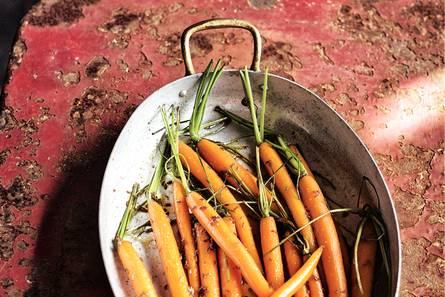 Geroosterde zoete wortels