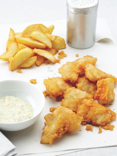 Recept 'fish en chips van leng met zelfgemaakte tartaar'