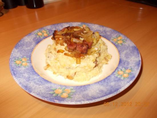 oudhollandse stamppot koolraap, spek, gebakken uien, room recept