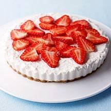 Cheesecake met aardbeien recept