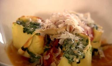 Recept 'gevulde pasta met spinazie en ricotta'