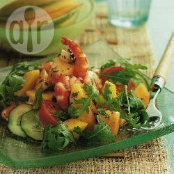 Fruitige garnalensalade recept