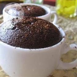 Eenpersoons chocoladecake in 6 minuten recept