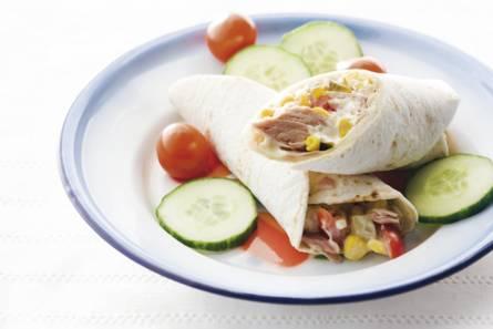 Tortillawrap met tonijn