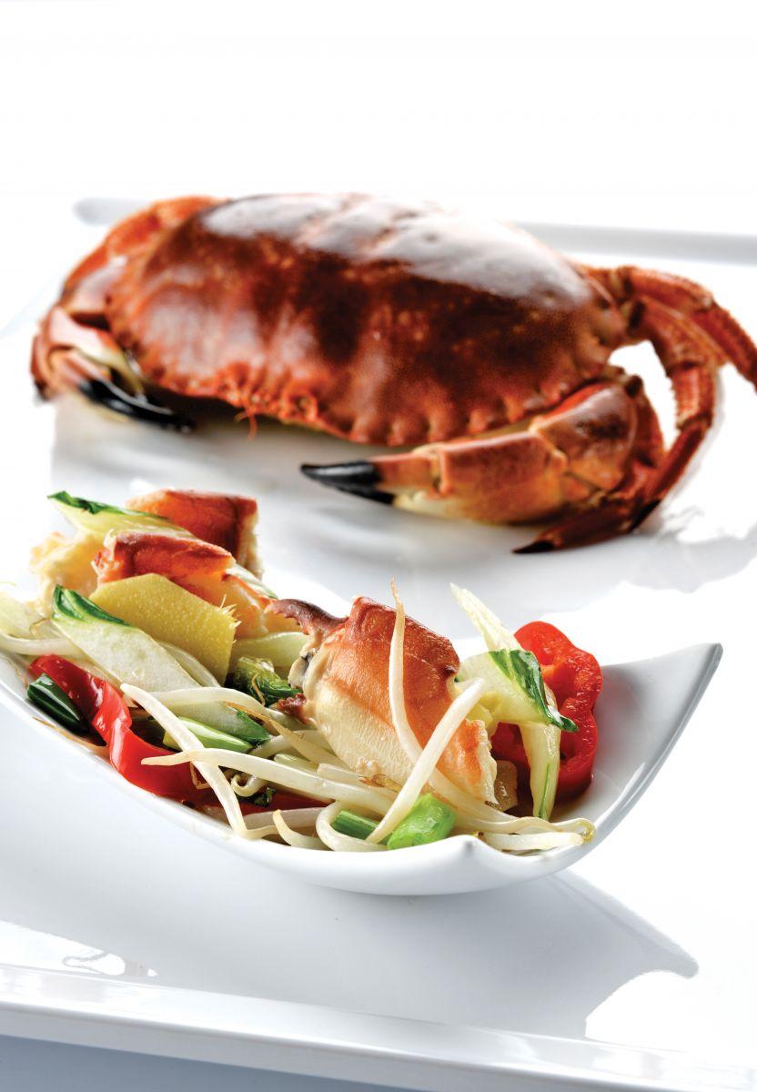 Recept 'wok met krab en gember'
