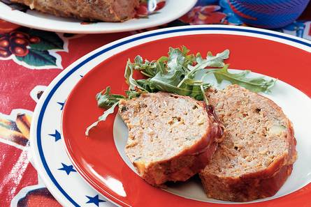 Gehaktbrood met mosterdmayonaise