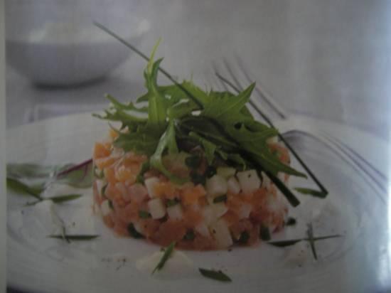 Zalmtartaar met mierikswortelroom recept