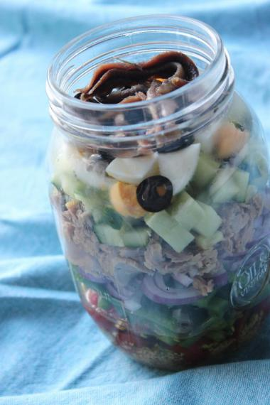 Recept 'salade niçoise in a jar'