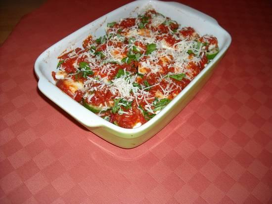 Zucchini al forno  ovenschotel courgette, tomaten, mozzarella