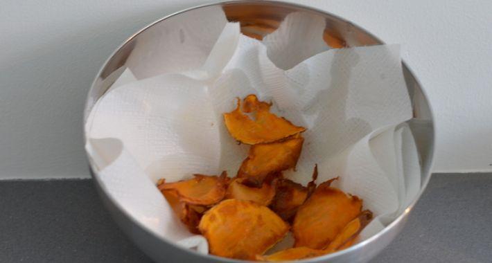 Wk hapje zoete aardappelchips