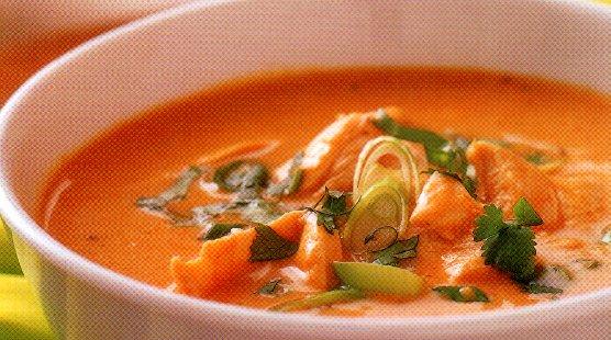 Thaise pompoen-kippensoep recept