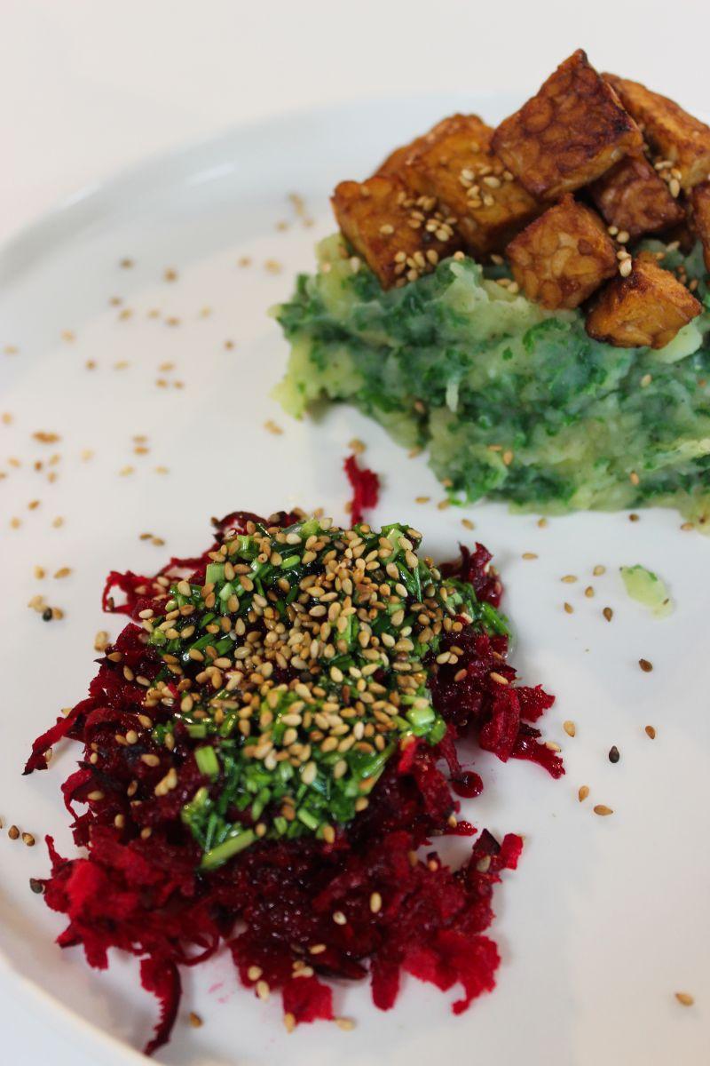Recept 'boerenkoolpuree met tempeh'