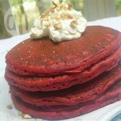 Red velvet pannenkoeken recept