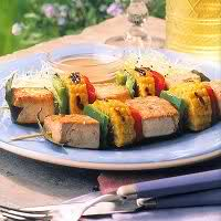 Groentespiesjes met mais, tofu en cactusvijgen recept
