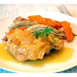Kip in sinaasappel-mosterdsaus recept