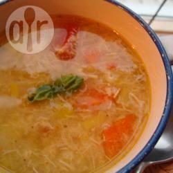Kippensoep met verse groenten recept