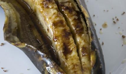 Banaan op de barbecue recept