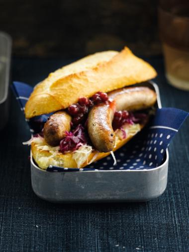 Recept 'hot dog met een duo van kool'