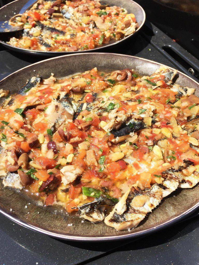 Recept 'gegrilde sardientjes met salsa van tomaat'