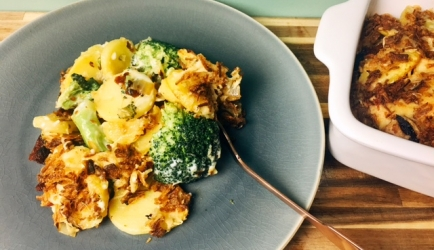 Romige broccoli gratin recept
