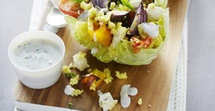 Couscous met gegrilde groenten en frisse yoghurtsaus recept ...