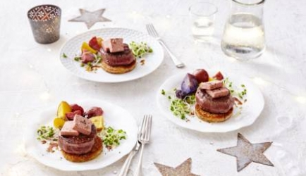 Chateaubriand met roompaté en truffelcroutons recept