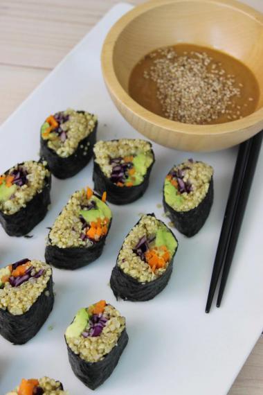 Recept 'quinoa sushi'