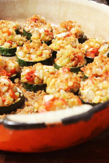 Recept 'hapje van gegrilde courgette'