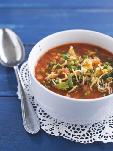 Recept 'minestrone met vermicelli'