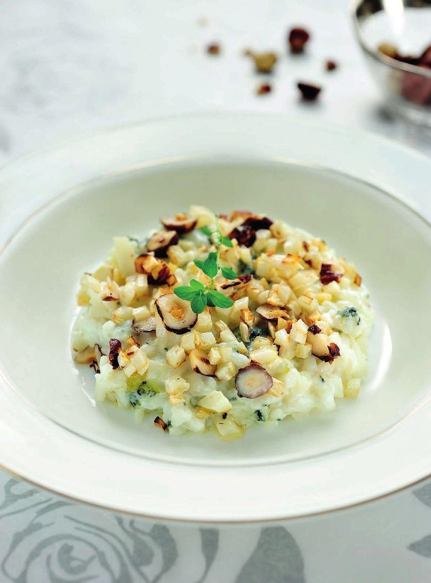 Recept 'risotto van knolselder met hazelnoot en blauwe kaas'