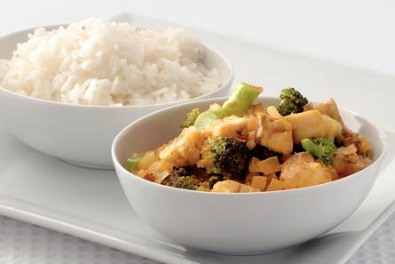 Snelle indiase viscurry met broccoli