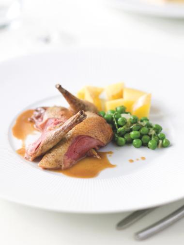 Recept 'duif clamart met groene erwtjes'