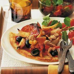 Aardappeltaart met tonijn, chorizo en zwarte olijven recept ...