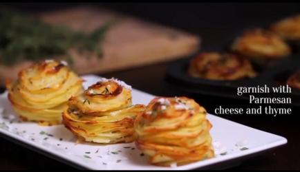 Aardappelschijfjes in muffinvorm recept