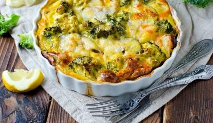 Romige kabeljauw-broccoli ovenschotel recept