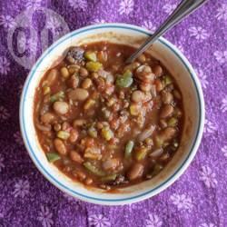 Vegan chili recept
