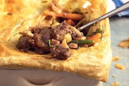 Ovenschotel met suddervlees en groenten