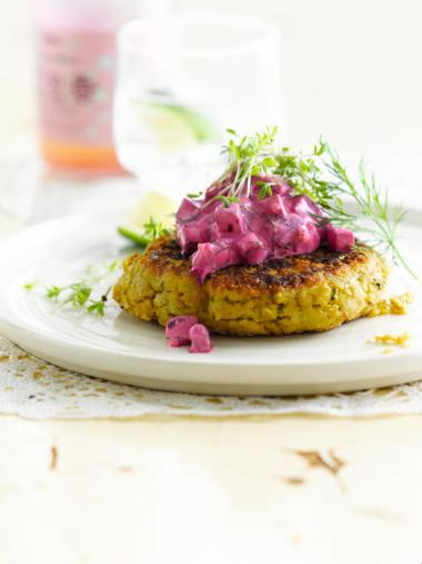 Recept 'falafel met tzatziki van rode biet'