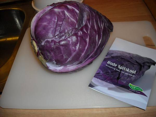 paarse spitskool recept