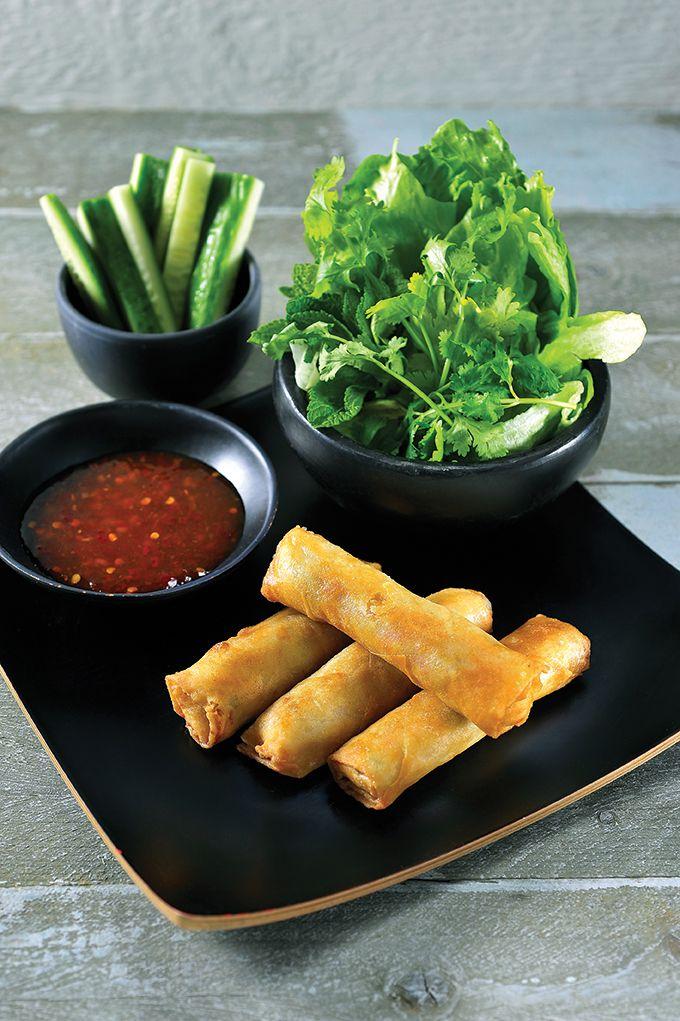 Recept 'vietnamese nems met chilidipsaus'