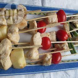 Groente-kipspiesjes voor een picknick recept