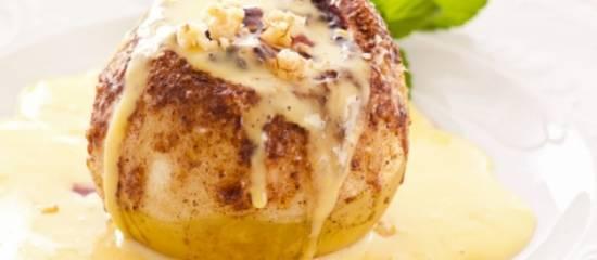 Appels uit de oven met vanillesaus recept