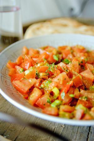Recept 'marokkaanse tomatensalade'