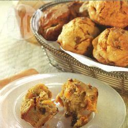 Abrikozen-pecanmuffins recept