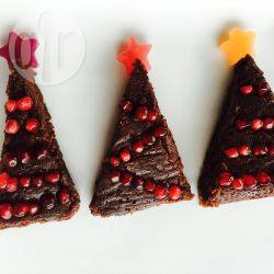 Kerstboom brownies recept
